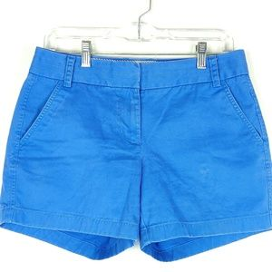 J.Crew Chino Shorts Womens Size 4 Mid Rise Summer
